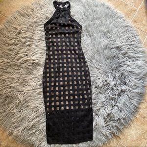 Fashion Nova Cage Style Bodycon Dress